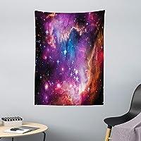 ABAKUHAUS Galaxia Tapiz de Pared y Cubrecama Suave, Constelación de Magallanes Estrellas Patrón Universo Cosmos Colorido…