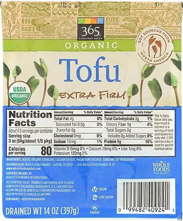 365 Everyday Value Organic Tofu Extra Firm 14 Oz Amazon