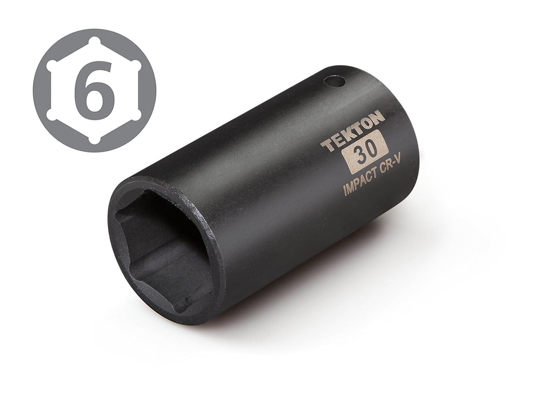 6-Point TEKTON 4930 1//2-Inch Drive by 30 mm Deep Impact Socket