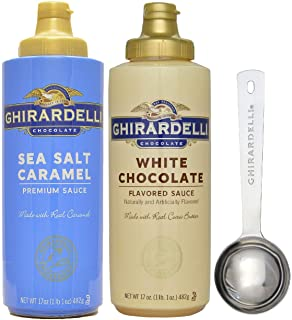 Ghirardelli - Sea Salt Caramel and White Chocolate Flavored Sauce (Set of 2) -