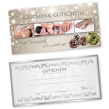 50 Weihnachtsgutscheine Gutscheinkarten XMAS RED BEAUTY f/ür Kosmetikstudio Gutscheine Geschenkgutscheine
