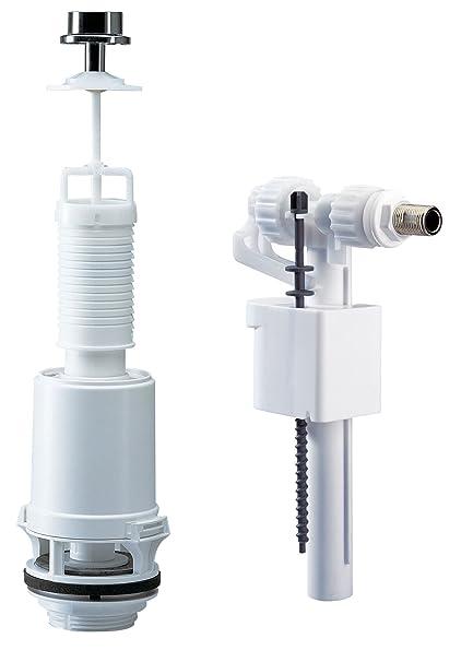Siamp 38955028 - Mecanismo para cisterna (descarga sencilla mediante botón y grifo flotador, 42