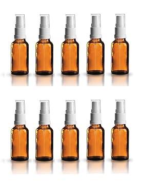 Farmacia de pulverizador de color marrón cristal vaporizador Efecto 10 piezas | Capacidad 20 ml |