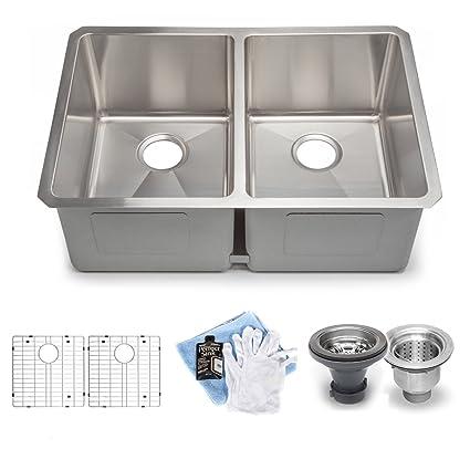 Hahn Handmade Chef Series XL 60/40 Double Bowl Sink - - Amazon.com