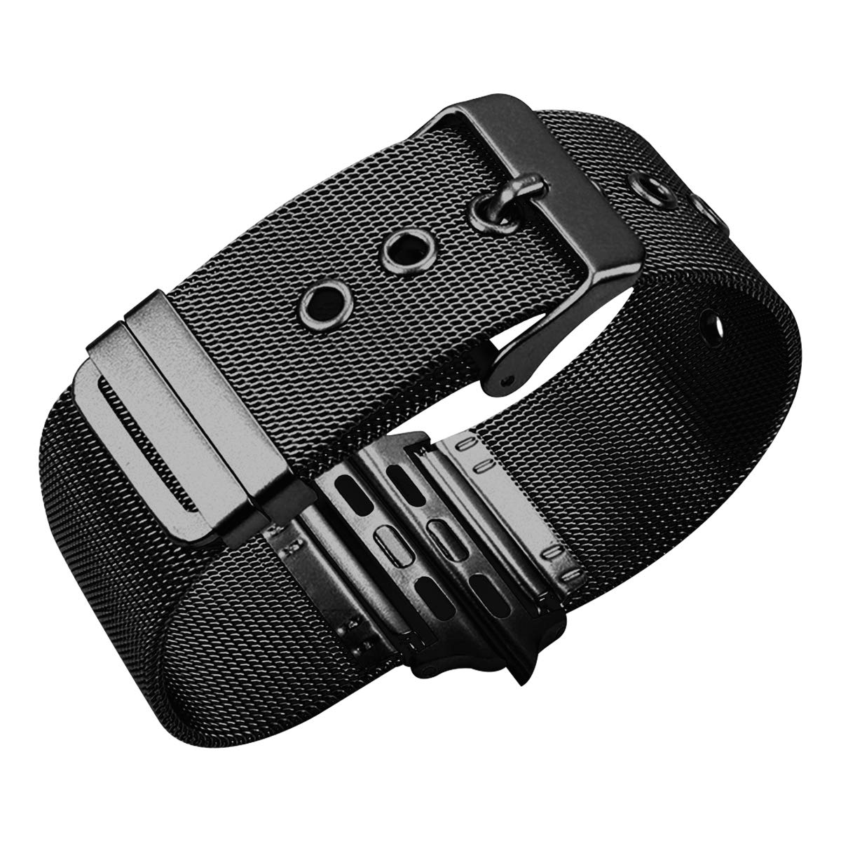 42mm Watch Band for iwatch Strap Black Stainless Steel Watch Band Replacement