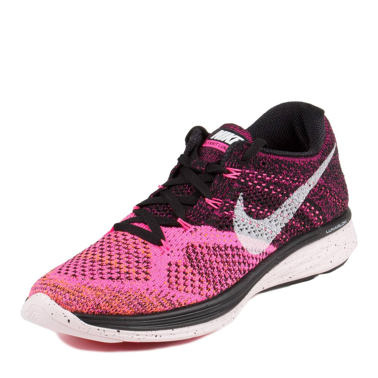 competitive price e2277 3b88b Galleon - Nike Flyknit Lunar 3 Womens Sneakers 698182-002 (10 B(M) US,  Black White Pink Pow TTL Orng)