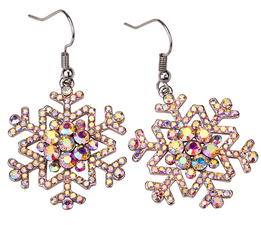 YACQ Snowflake Dangle Earrings Thanksgiving Christmas Holidays Party Jewelry Gifts for Women Teen Girls /…
