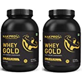 NAKPRO GOLD Whey Protein Concentrate 80% (Raw, Pure, asitis, Unflavored USA Made) -2 Kgs