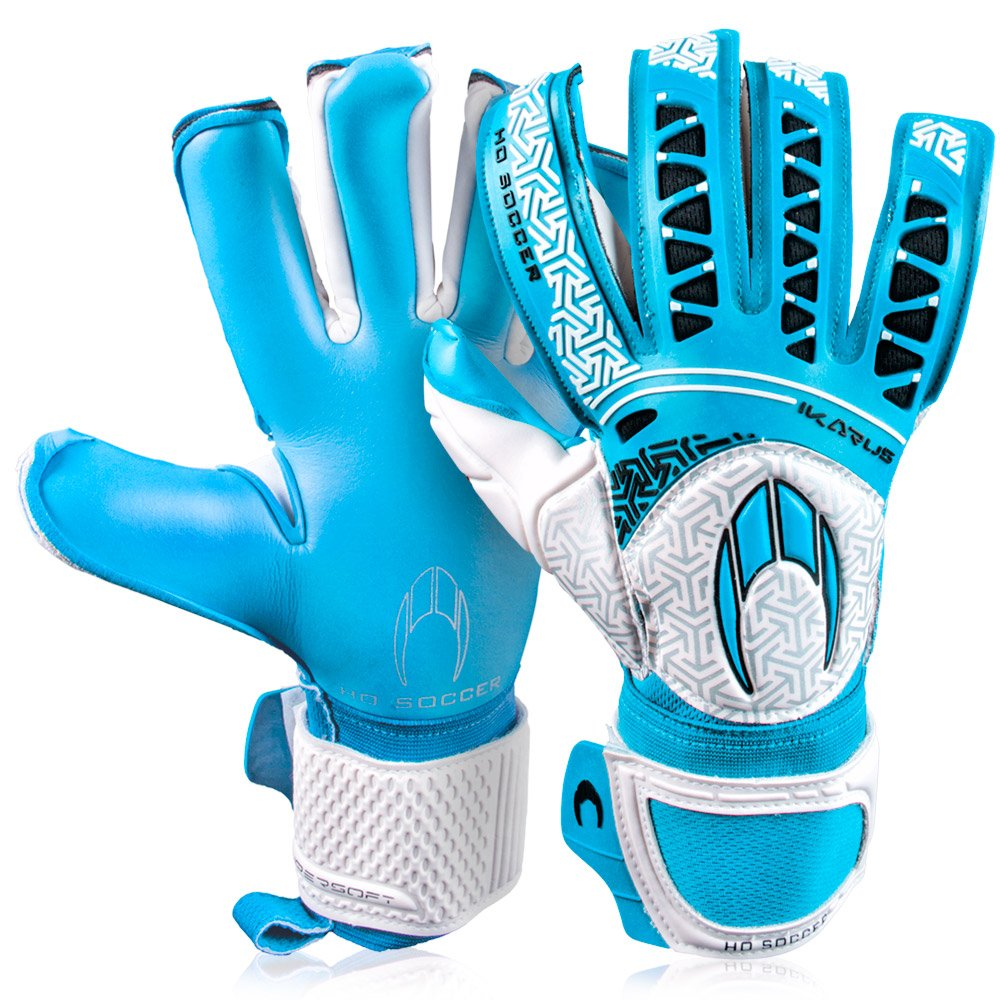 メンズHo Soccer Ikarus Club Colour Pack Roll / Negゴールキーパーグローブサッカーフットボールのブルー B076BRW18J11