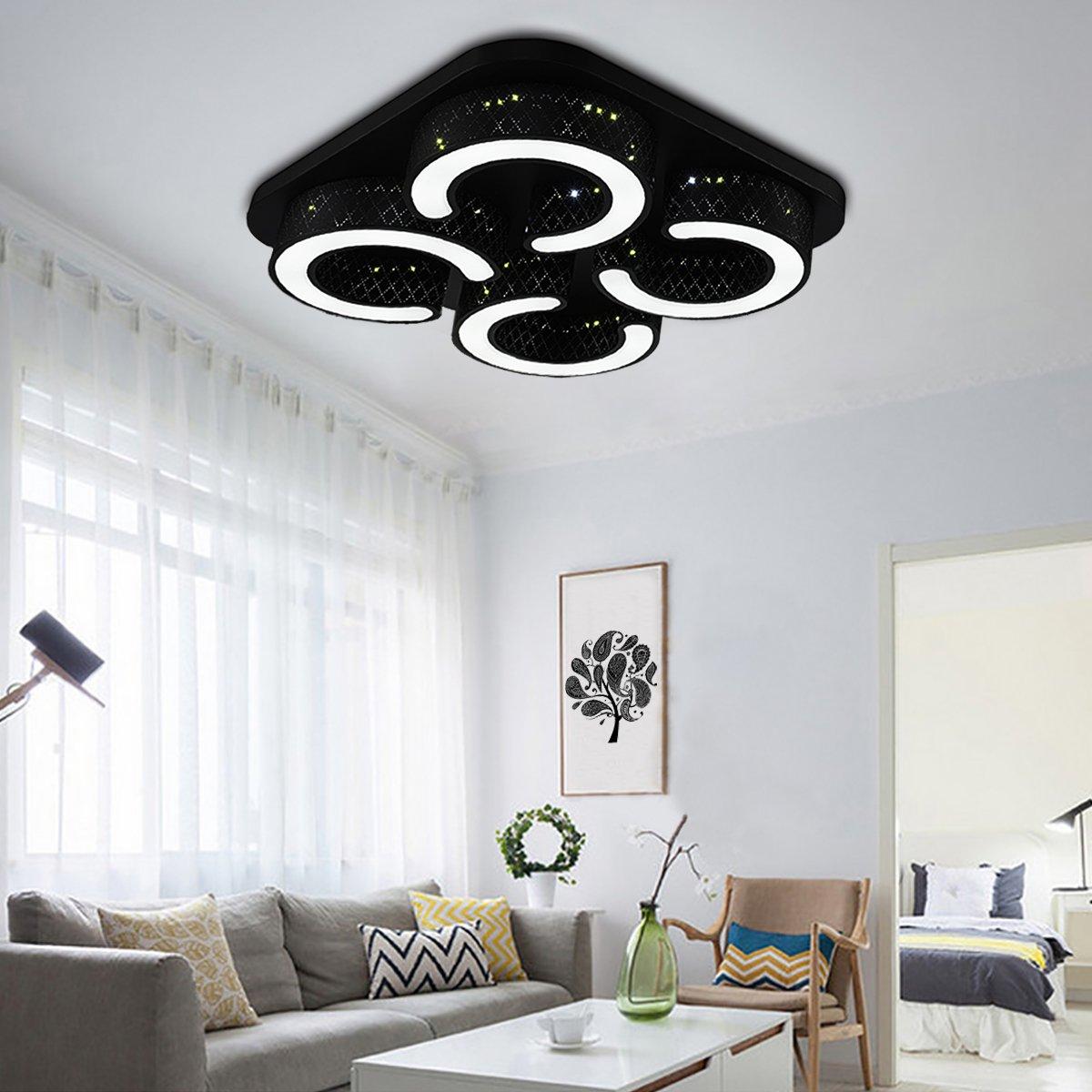 HG® 48W Led Ceiling Light Square Living Room Light Cool White Lamps Modern Energy-Saving Wall Light Bathroom Ceiling Light IP44