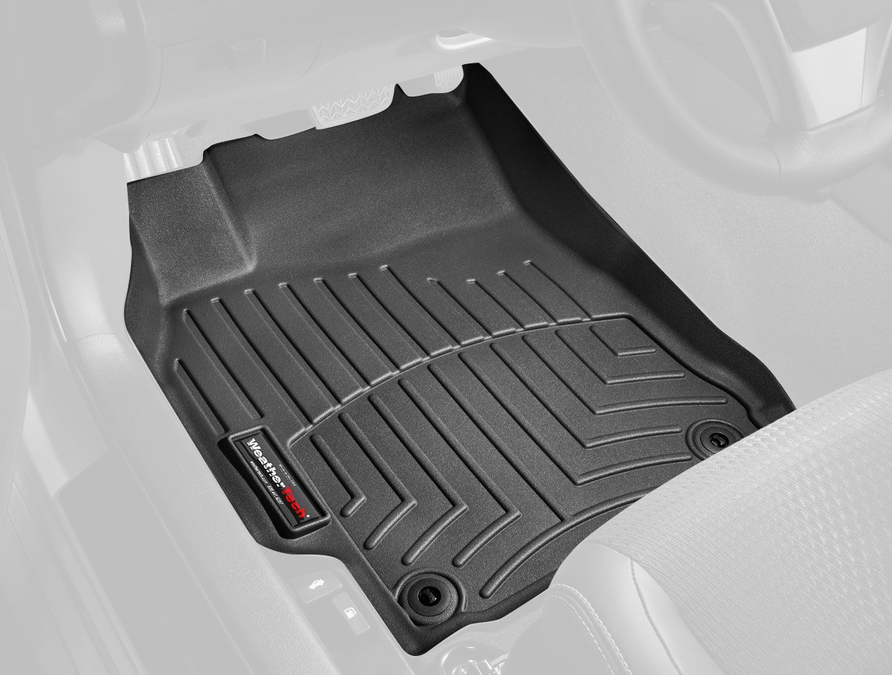 WeatherTech Custom Fit Front FloorLiner for Volvo XC60 (Black) 442341