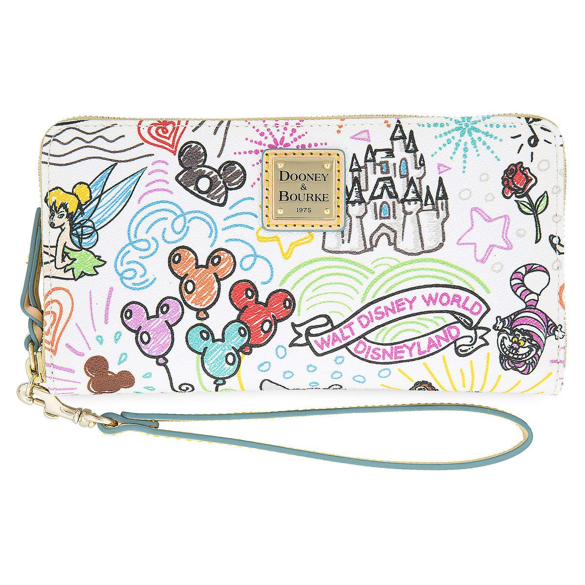 Disney Parks Sketch Mickey & Minnie Zip Wallet by Dooney & Bourke Wristlet by Disney Parks (Image #1)