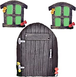 Tree Hugger Yard Art Decorations, Door and Windows Tree Art Garden Art,Glow In The Dark