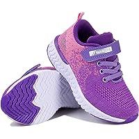 Torotto - Zapatillas de correr para niños y niñas, deportivas, transpirables, ultraligeras, con cierre de velcro, para…