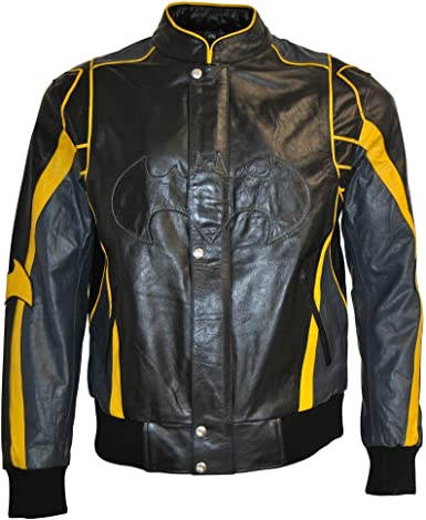 SleekHides Mens Fashion Super vs Bat Leather Jacket