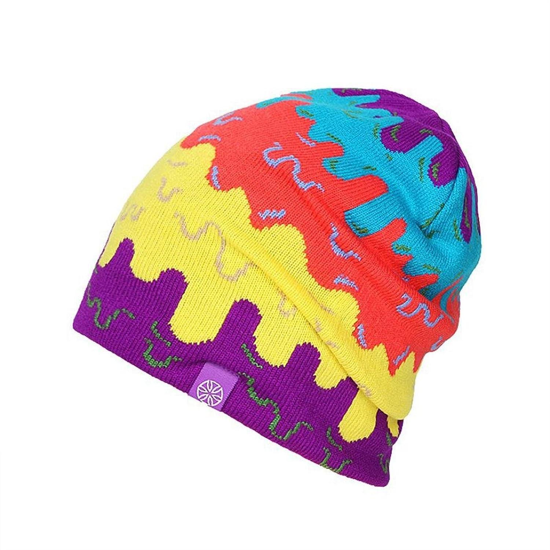 Saingace Mode Kappe,Warm Mode-Winter-Frauen Men Knit Ski Crochet Schlapphut Cap