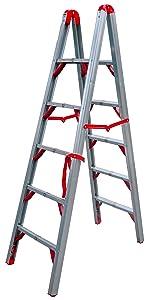 Telesteps 600FLD OSHA Compliant 6 ft Double sided folding step ladder (STIK)