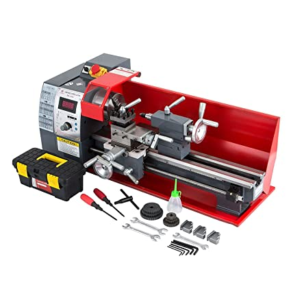MosaicAL 750W Mini Metal Lathe 8x16inch Lathe for Metal 2500rpm Bench Top  Lathe Precision Parallel Lathe Variable Speed Digital Drilling Digital  Metal