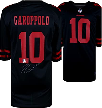 on sale e9757 1dd10 Jimmy Garoppolo San Francisco 49ers Autographed Black Nike ...