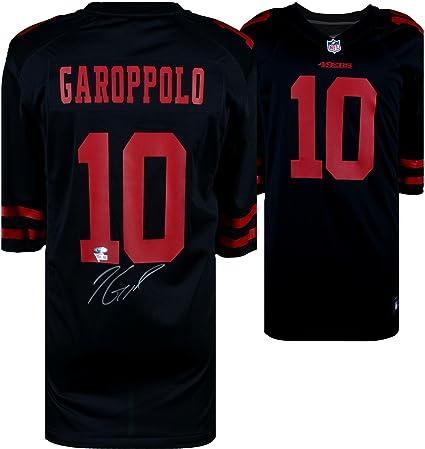 on sale b21da fa0a8 Jimmy Garoppolo San Francisco 49ers Autographed Black Nike ...
