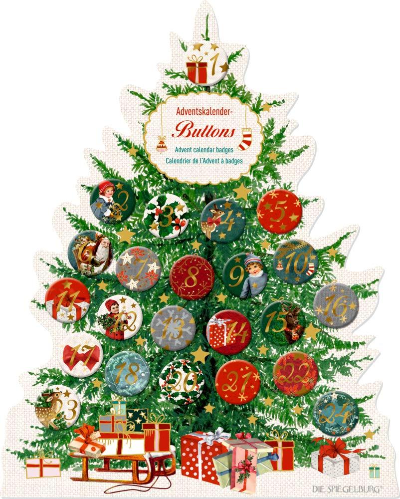 Seasons Greetings Spiegelburg Calendario dell'Avvento con 24 Spille Personalizzate 14670 EAN