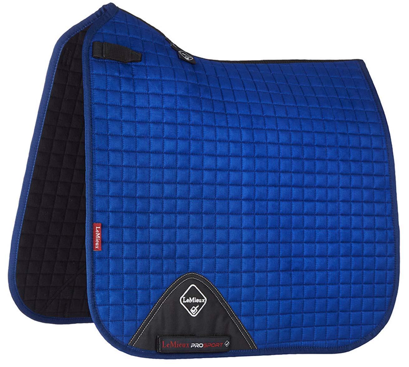 Lemieux ProSport Lustre Suede Dressage Square (D-Ring) Saddle Pad Small Medium Benetton bluee