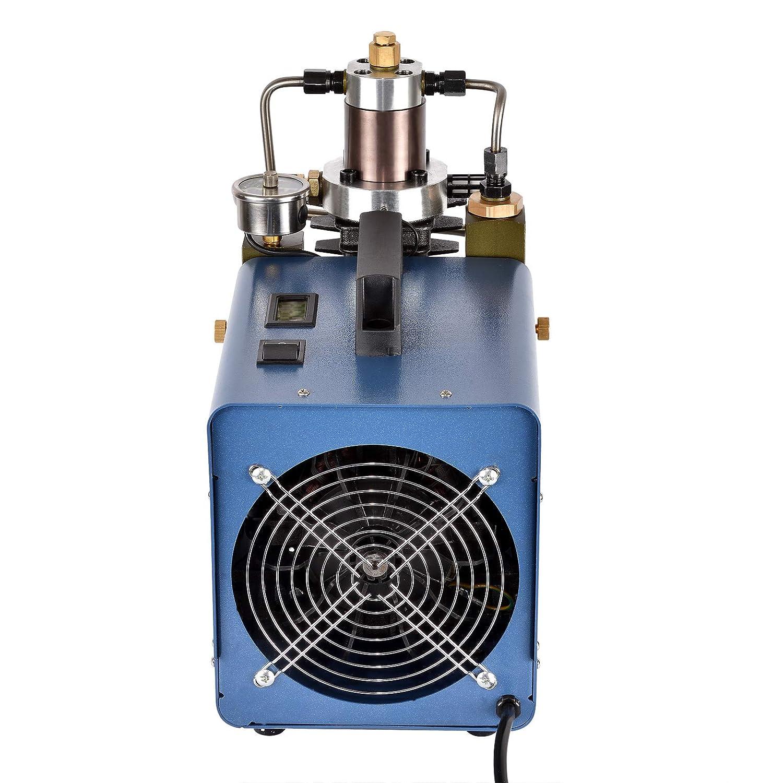 4500 PSI 80L//Min per Bottiglia di Inflazione Gonfiatore PCP Arresto Automatico Pressione Prestabilita HOOMYA 300BAR 30MPA Pompa Elettrica del Compressore dAria ad Alta Pressione