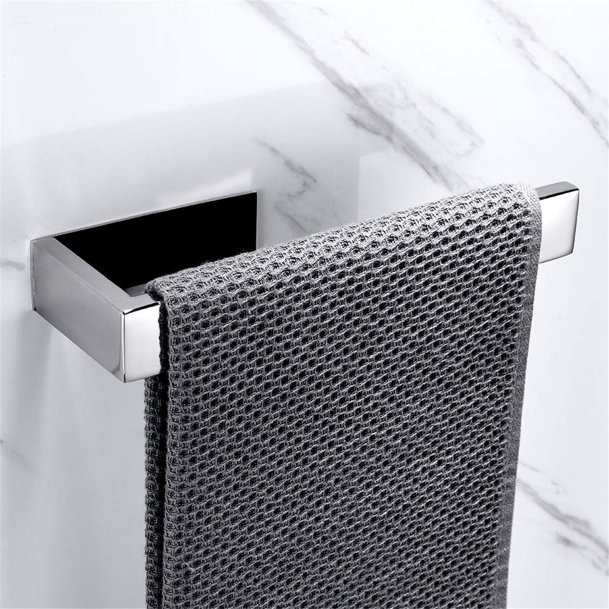 Flybath Open Towel Ring 304 Stainless Steel Towel Holder Wall Mounted Accessories Matte Black Finish