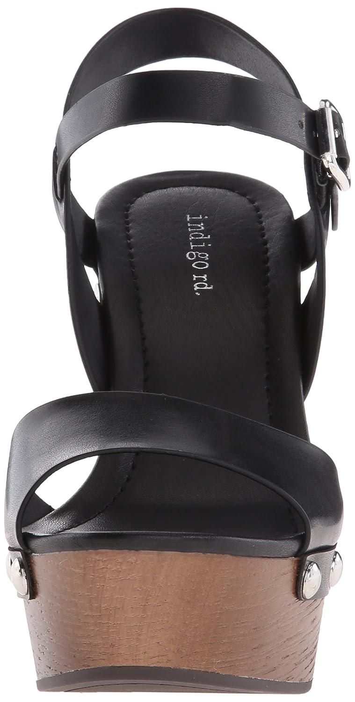 Indigo Rd. Women's Kiana Platform Sandal B01691S2KS 6.5 B(M) US|Black