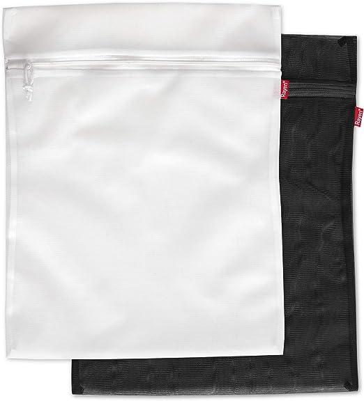 Rayen Lavadora y Secadora lavander/ía 50 x 70 cm Funda para Colada con Cremallera Blanco Bolsa Protectora Reutilizable para el Lavado de Ropa 1 unidad Talla M