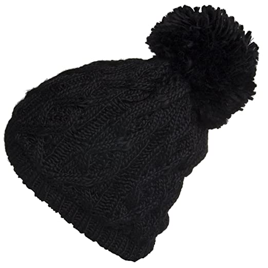 eac7633df946c Polar Extreme Women s Insulated Thermal Slouchy Beanie Hats with Pom Pom  Cable Knit