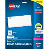 "Avery Address Labels with Sure Feed for Laser Printers, 0.5"" x 1.75"", 2,000 Labels, Permanent Adhesive (5267)"