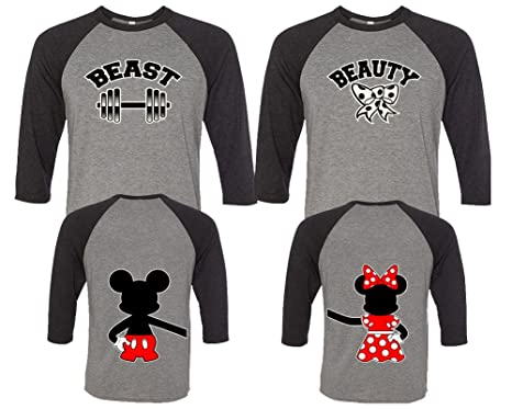 ce7ecf1dca LIFESTYLE39 Beauty And The Beast Couple Shirts, His And Her Shirts, Disney Couple  Shirts
