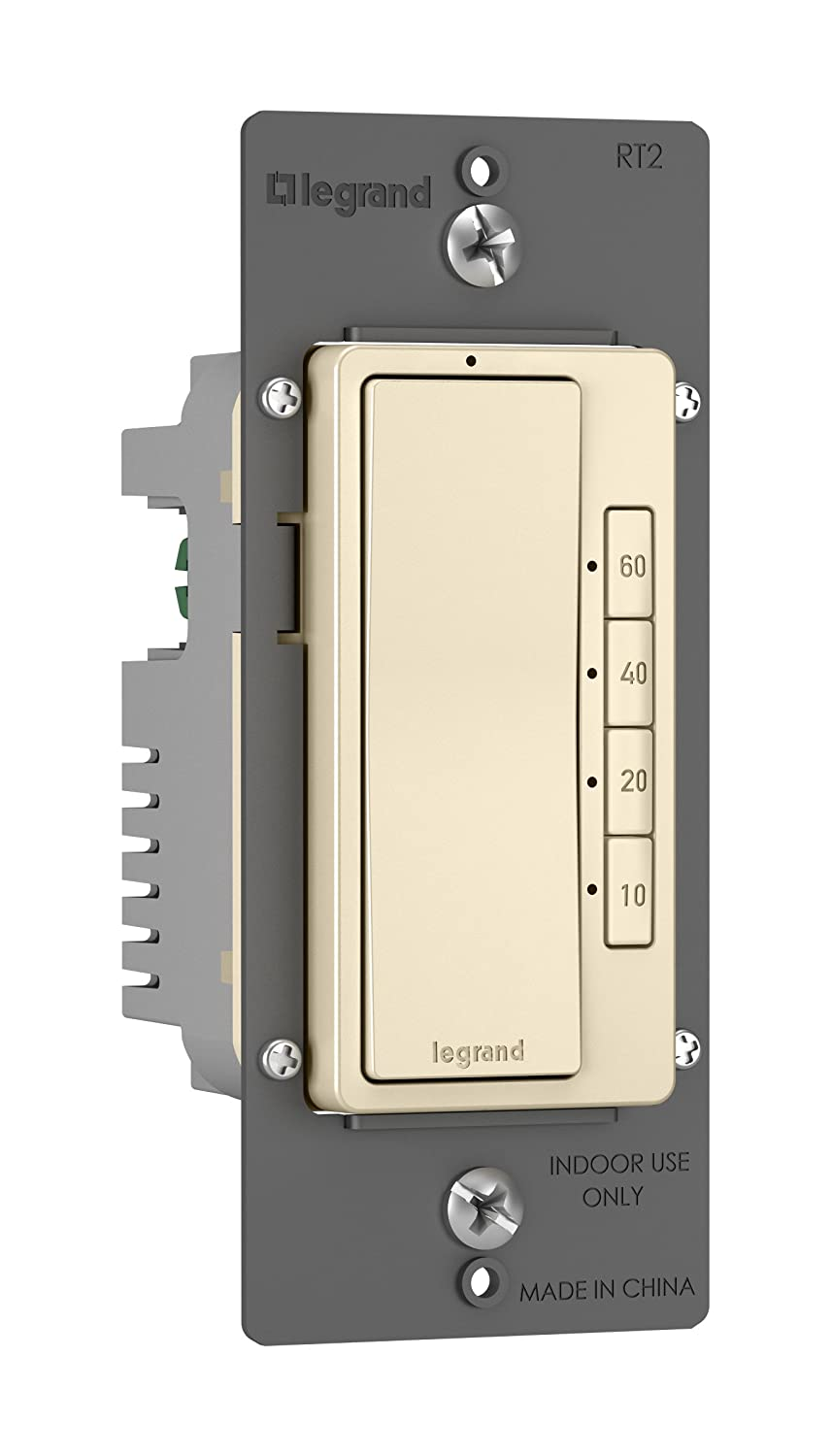 Legrand Pass Seymour Rt2wccv4 Radiant Digital Timer 4 Button 3 Way Switch Fluorescent Paddle