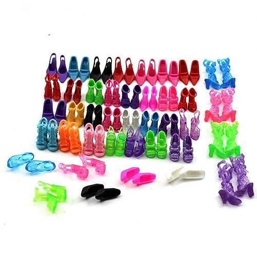 40 paires différentes chaussures à talons hauts bottes accessoires pour poupée Barbie
