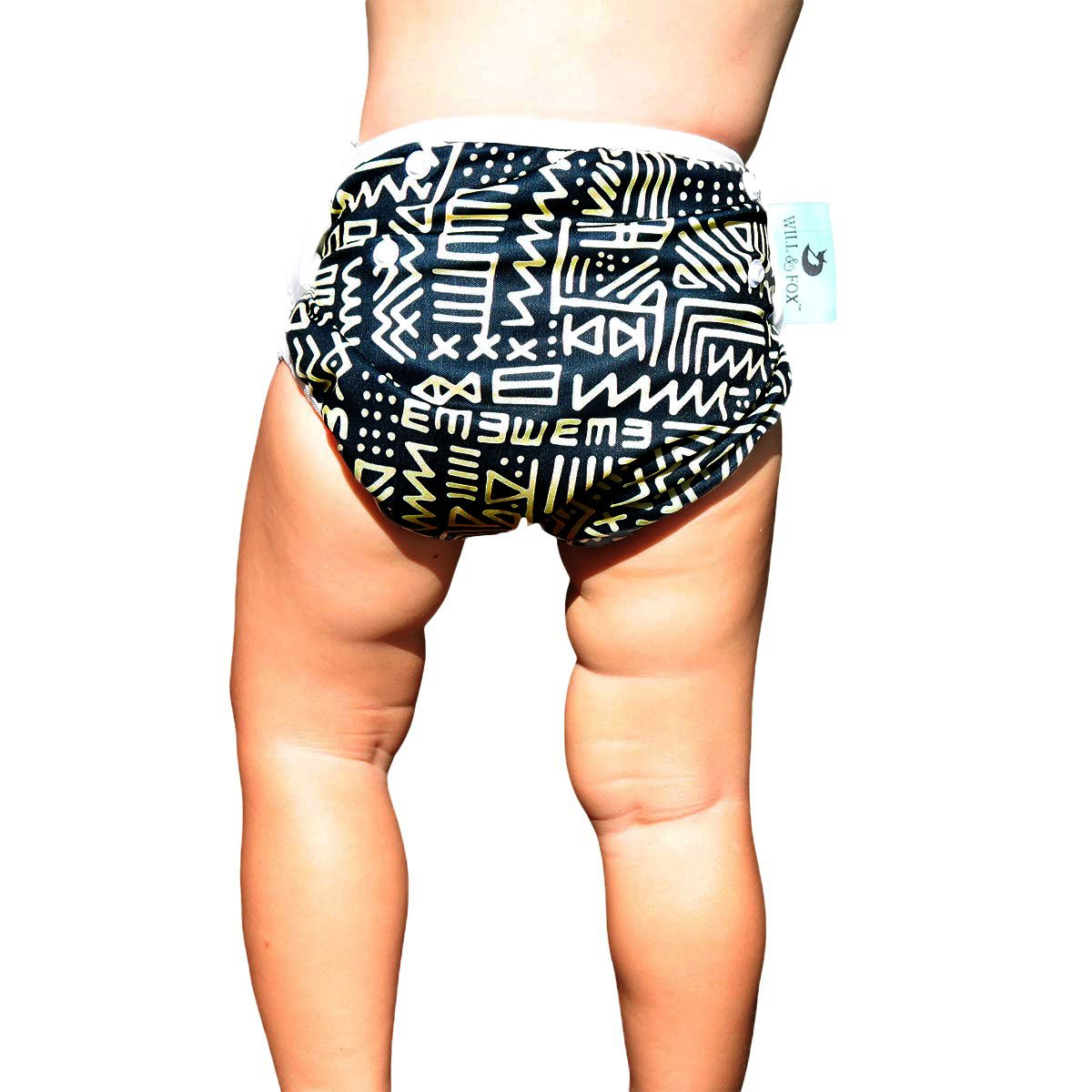 Premium Reusable Swim Diaper for Baby & Toddlers Girls & Boys Unisex ~Adjusts Size N - 5 (0-36lbs) Check Out Our Huge Trendy Range Be The Most Stylish and Well Protected Infant at The Pool or Beach!