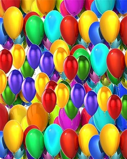 AOFOTO 4x5ft Colorful Balloons Photography Backdrop Birthday Party Decoration Photo Studio Background Activity Arrangement Kid Child