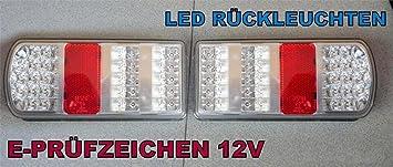 A1 2 X Led Rückleuchten Set Heckleuchte Led Rückleuchte Lkw Pkw Wohnmobil Wohnwagen Anhänger Leuchte Led Rückleuchten Anhänger Rücklicht Leuchte Licht 12 V Df06 Auto