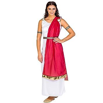 dressforfun Disfraz para mujer de la ciudadana romana reina diosa antiguo | vestido + cinturón elegante