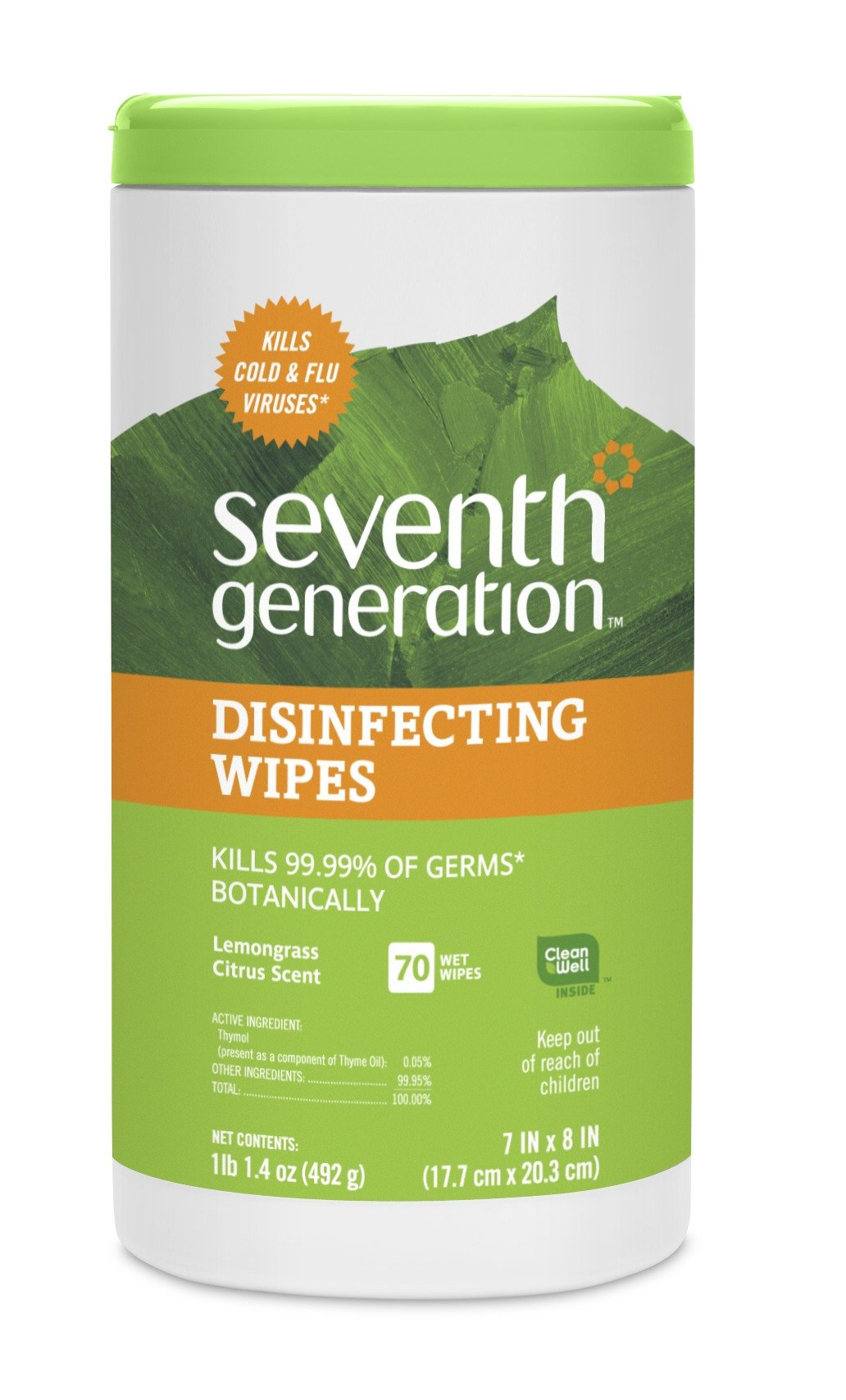 Seventh Generation Disinfecting Multi-Surface Wipes 70-Count Tubs (Pack Of 6).. 14