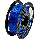 YOYI 3D Flexible TPU 0.8KG 1.75mm Transparent Blue Flexible TPU 3D Printer Filament, Diameter Tolerance +/- 0.03 mm, 0.8KG Spool, 1.75 mm, Transparent Blue