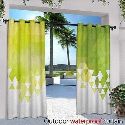 Amazon.com : Green Living Room/Bedroom Window Curtains ...