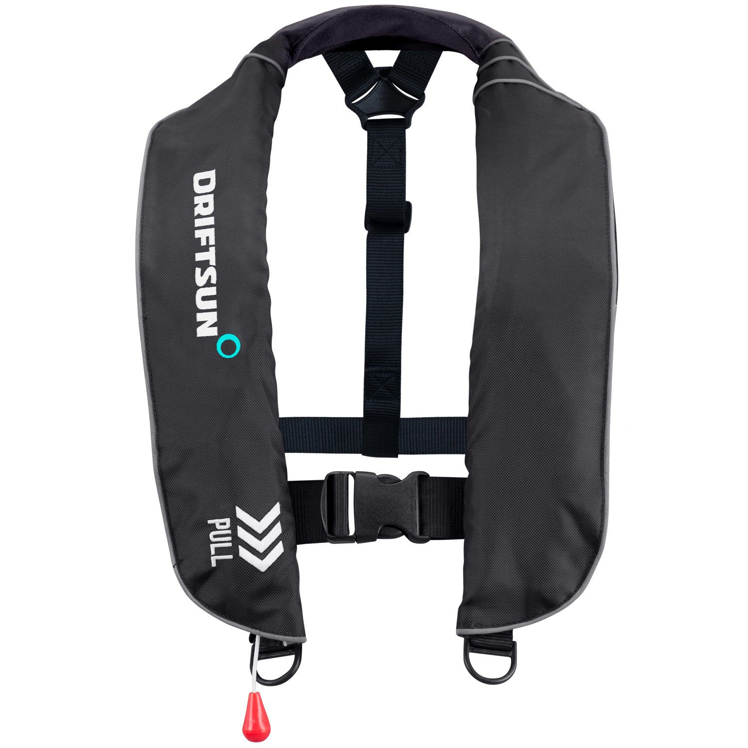 Image result for Driftsun Universal Fit Automatic/Manual Inflatable Life Vest PFD - Adult Auto Inflate Life Jacket