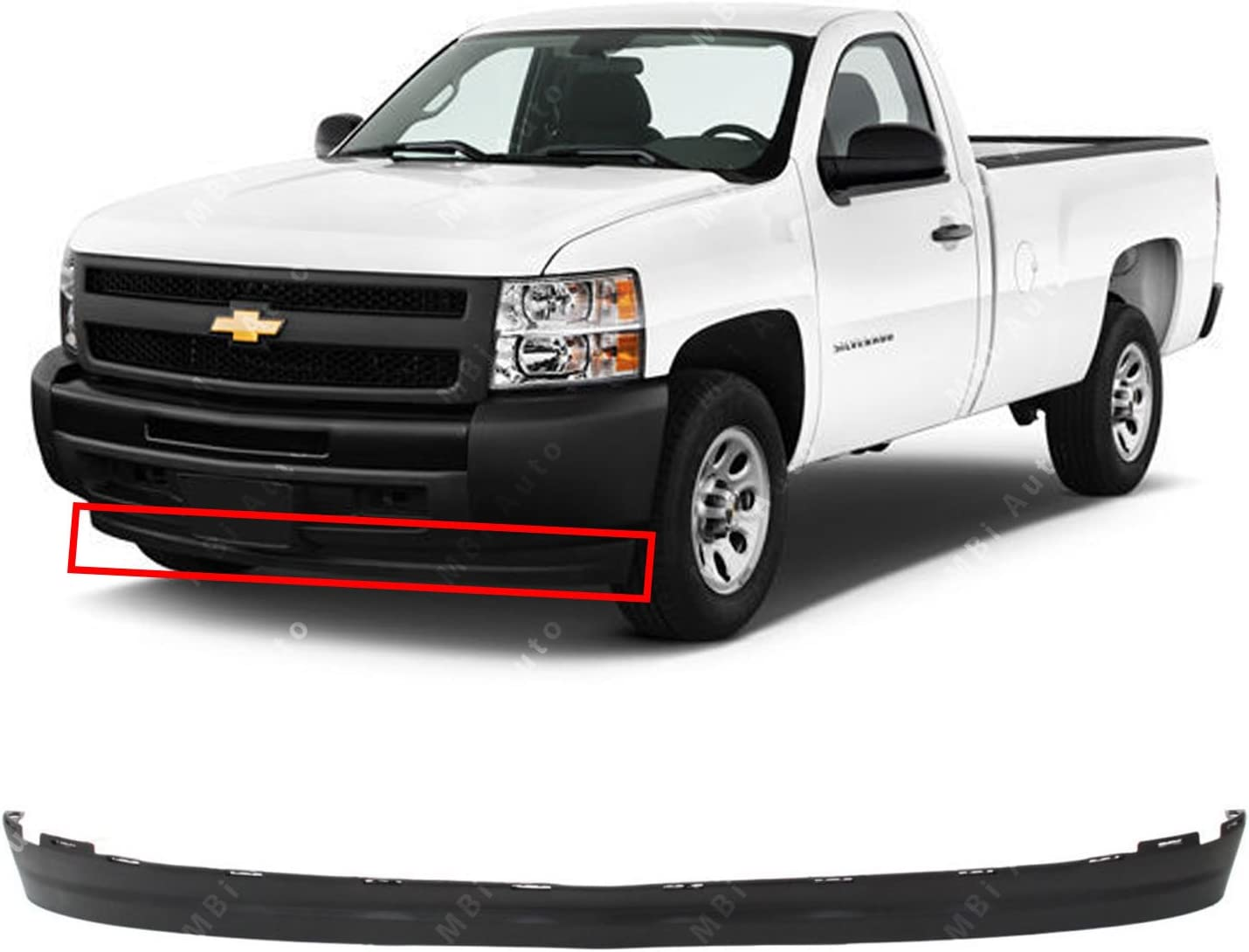 NEW Textured Bumper Lower Air Deflector for 2007-2013 Chevy Silverado 1500 07-13