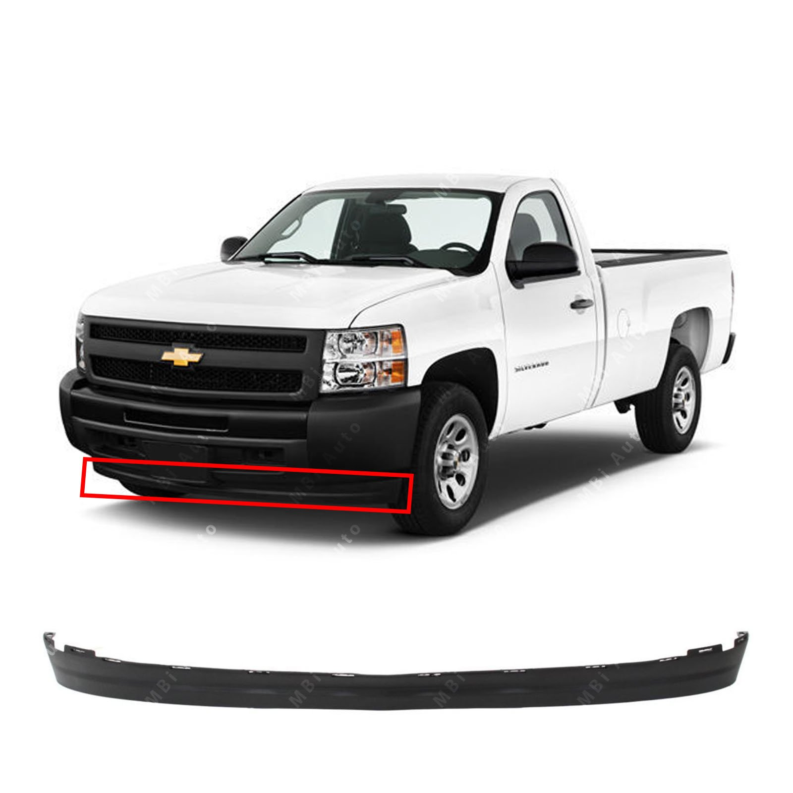 MBI AUTO - Textured, Bumper Lower Valance Air Deflector for 2007-2013 Chevy Silverado 1500 Pickup 07-13, GM1092191