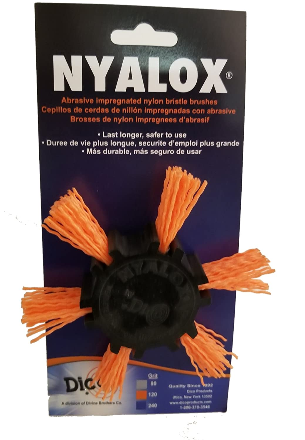 Dico 541-782-4 Nyalox Flap Brush 4-Inch Orange 120 Grit Dico Products