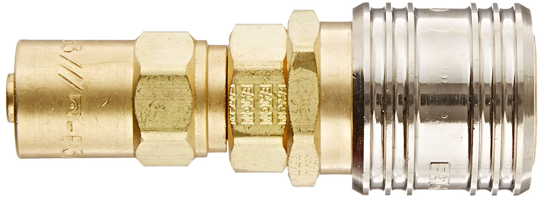 1//4 Hose ID Eaton Hansen 1SB3 Brass ISO-B Interchange Ball Lock Pneumatic Fitting 1//2 Hose OD Socket 1//4 Body
