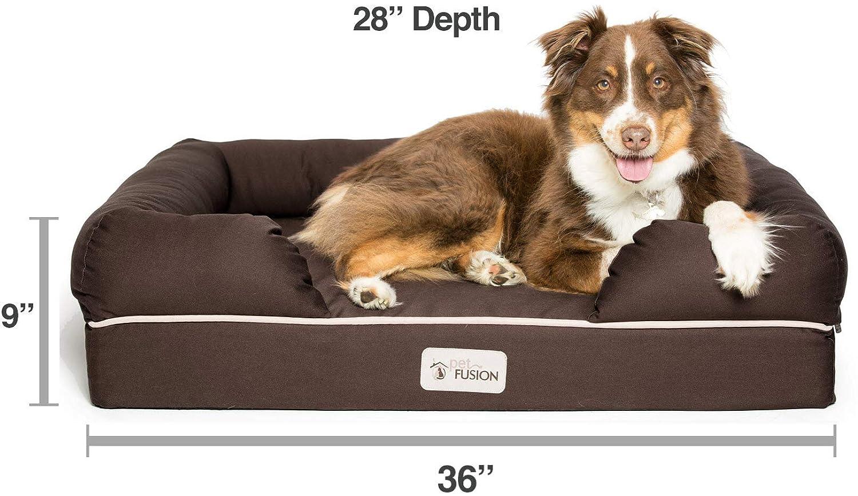 Cama de espuma viscoelástica para perros medianos y grandes, Marrón (Large Bed), 91 x 71 x 23 cm: Amazon.es: Productos para mascotas