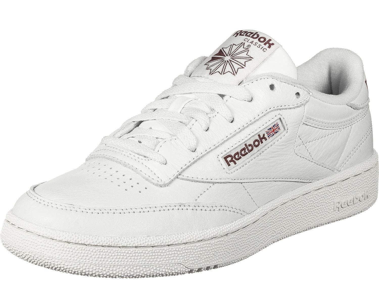 Blanc Reebok Club C 85 Mu, Chaussures de Gymnastique Homme 40.5 EU