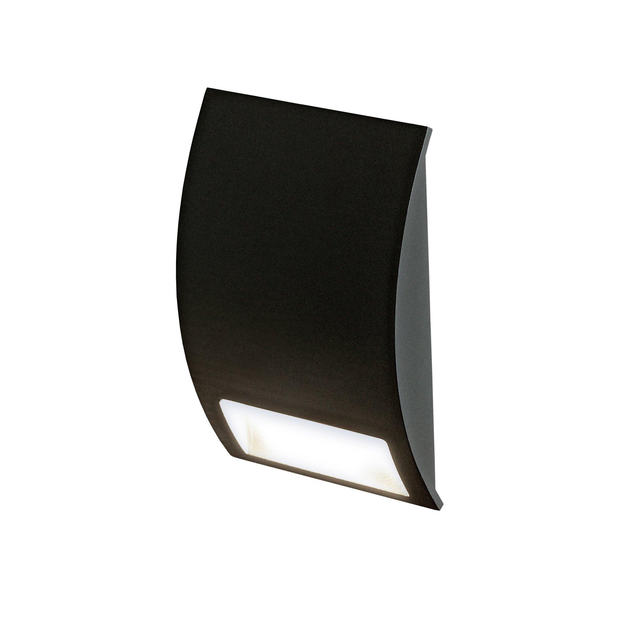 DALS Lighting LEDSTEP003D-BK 3'' Half Moon Indoor/Outdoor LED Step Light 3'', Black by DALS Lighting